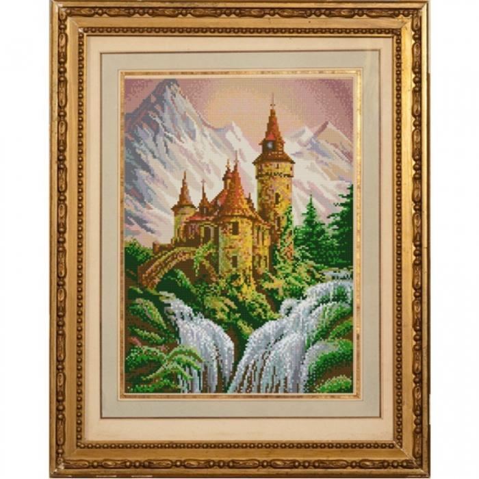 Рисунок на ткани (Бисер) КОНЁК арт. 1229 Замок в горах 29х39 см