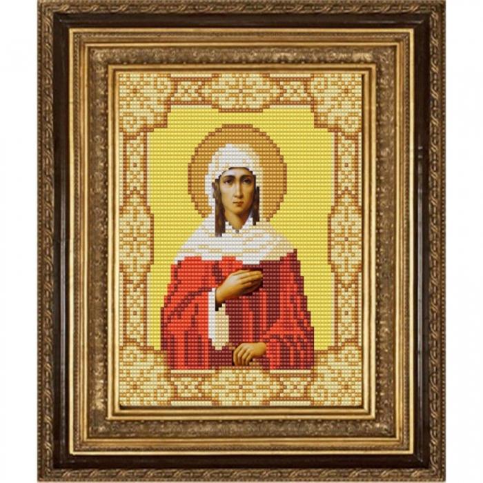 Рисунок на ткани (Бисер) КОНЁК арт. 9153 Святая Ксения Петербургская 15х18 см