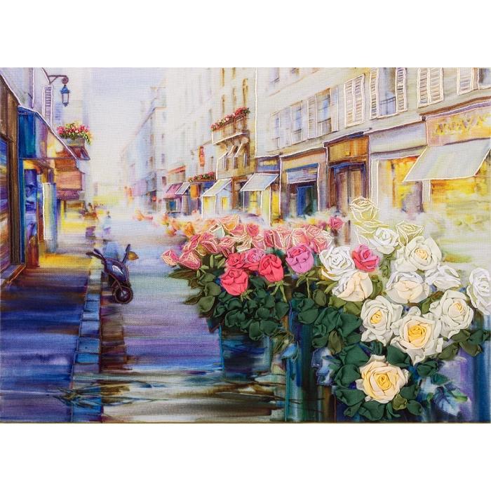 "Набор для вышивания PANNA ""Живая картина"" арт. JK-2021 Цветы Парижа 17,5х24,5 см"