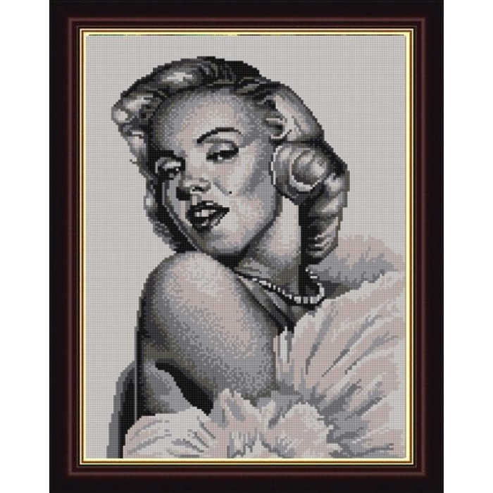 Рисунок на ткани (Бисер) КОНЁК арт. 9834 Мэрилин Монро 29х39 см