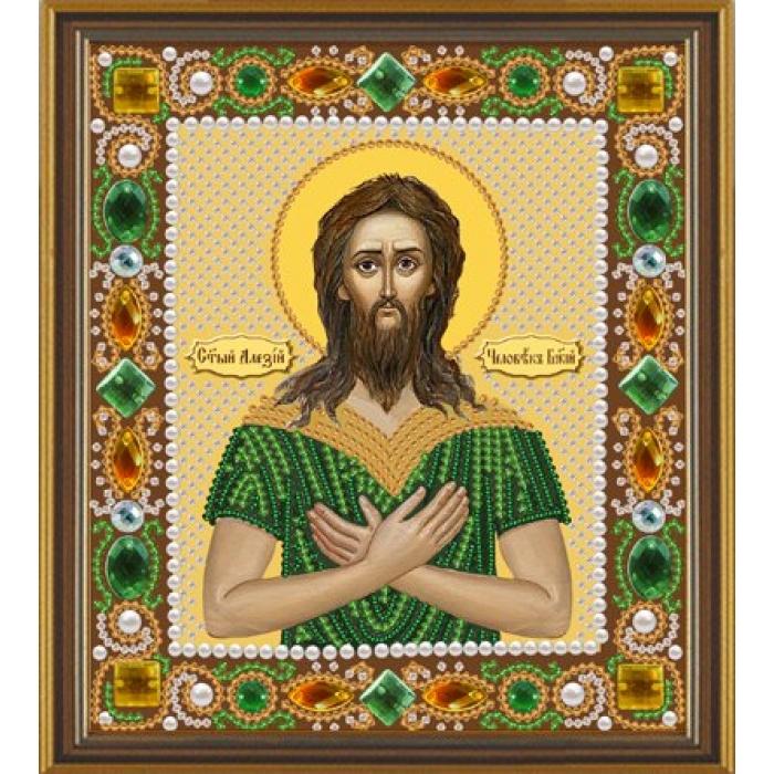 Набор для вышивания бисером НОВА СЛОБОДА арт.Д6102 Св.Алексий Человек Божий 13х15 см