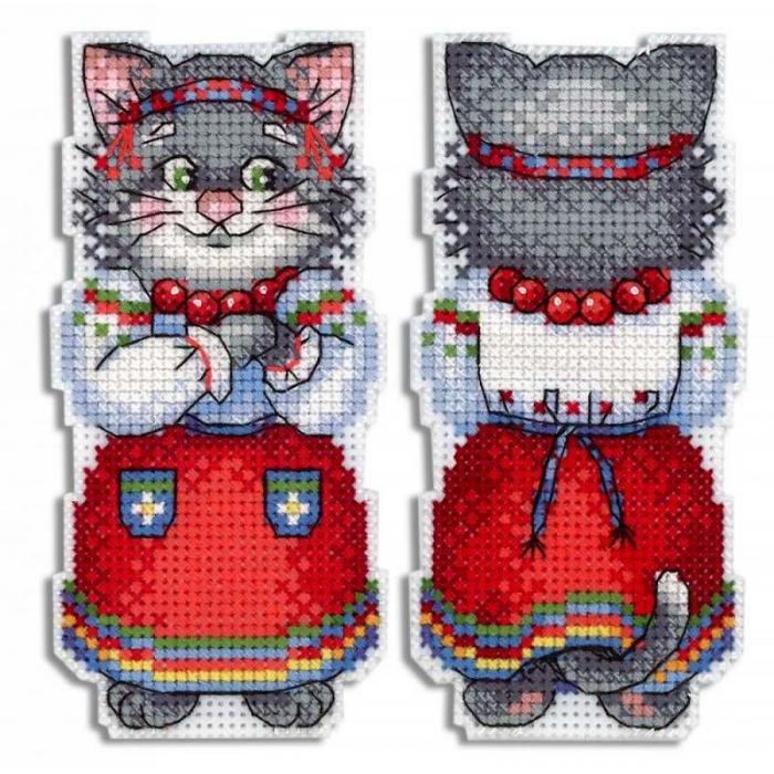 Набор для вышивания ЖАР-ПТИЦА арт.Р-471 Кошка Мурка 11х9 см