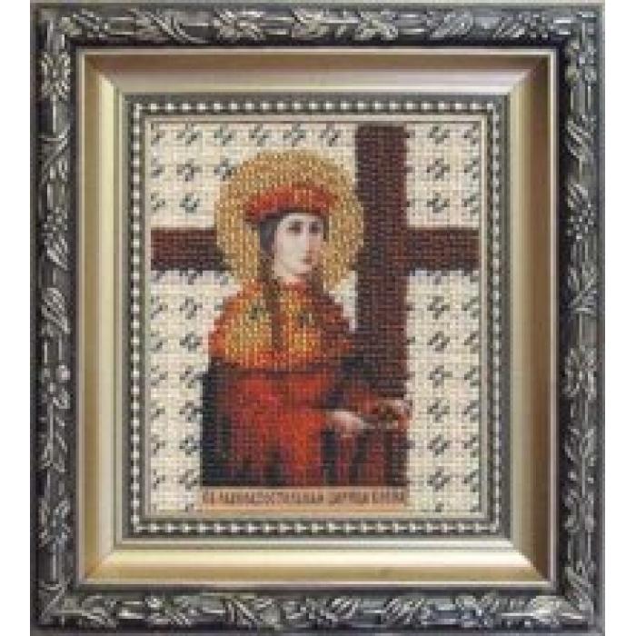 Набор для вышивания бисером ЧАРИВНА МИТЬ арт.Б-1033 Икона святой равноапостольной царицы Елены 9х11 см