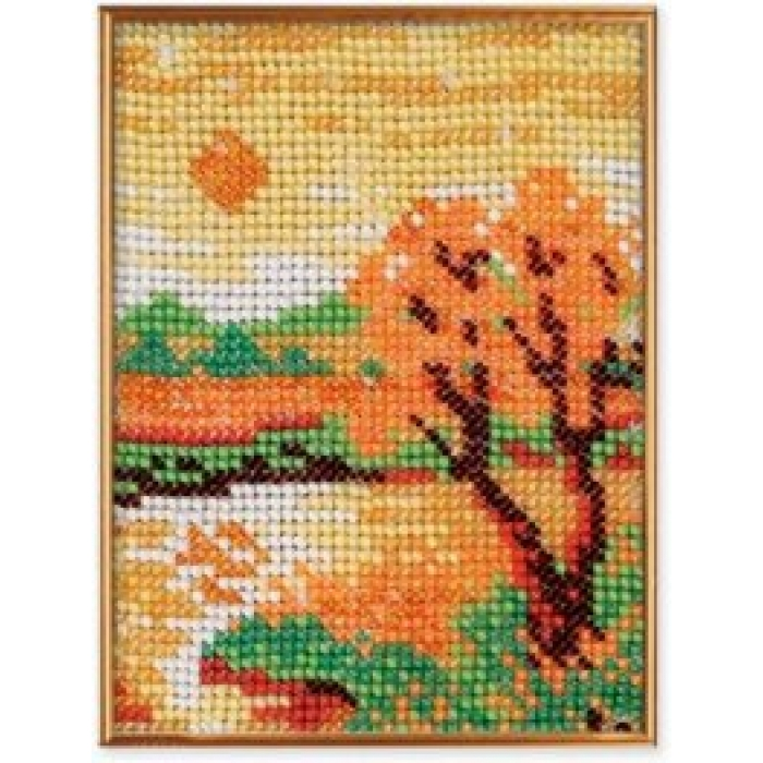 Набор для вышивания бисером КРОШЕ арт. В-017 Осенний вечер 10х13 см