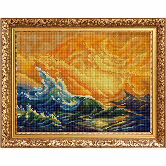 Рисунок на ткани (Бисер) КОНЁК арт. 9966 Девятый вал (И. Айвазовский) 29х39 см