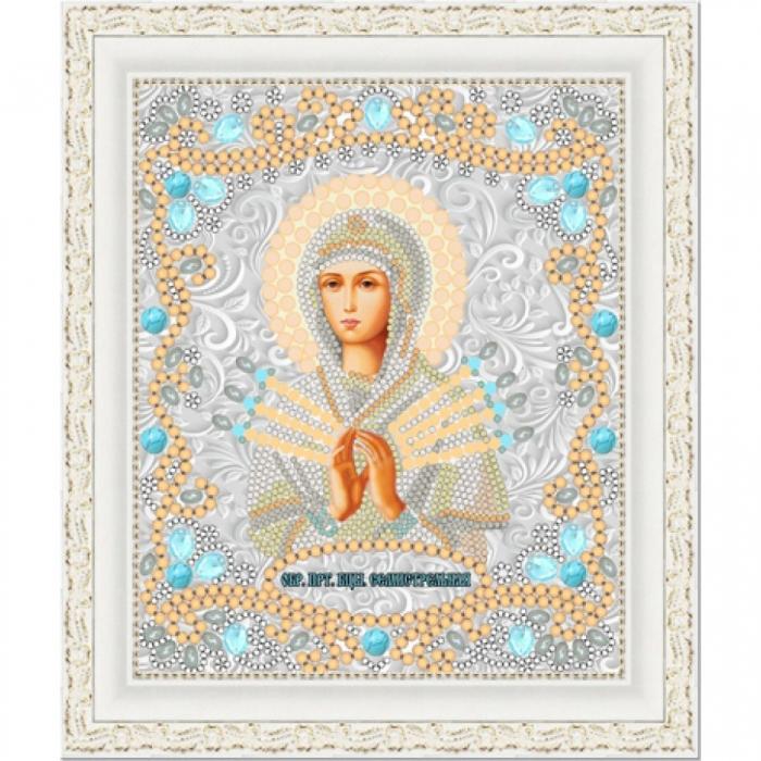 Рисунок на ткани (Бисер) КОНЁК арт. 7120 Богородица Семистрельная 15х18 см