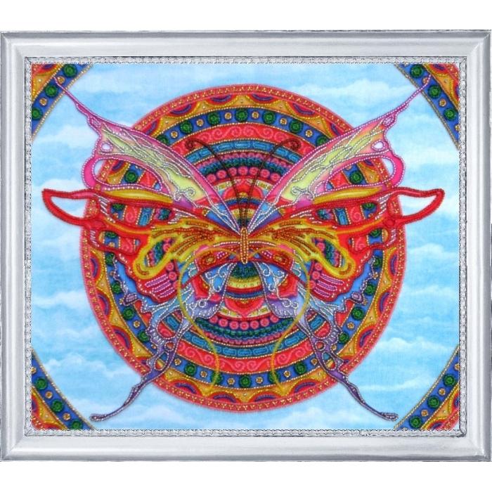 Набор для вышивания BUTTERFLY арт. 118 Мандала-бабочка 27 х 32 см