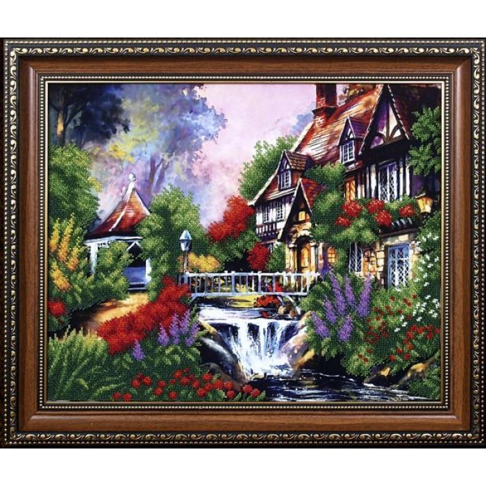 Набор для вышивания бисером МАГИЯ КАНВЫ арт.Б082 Сказочный пейзаж 3 43х33 см