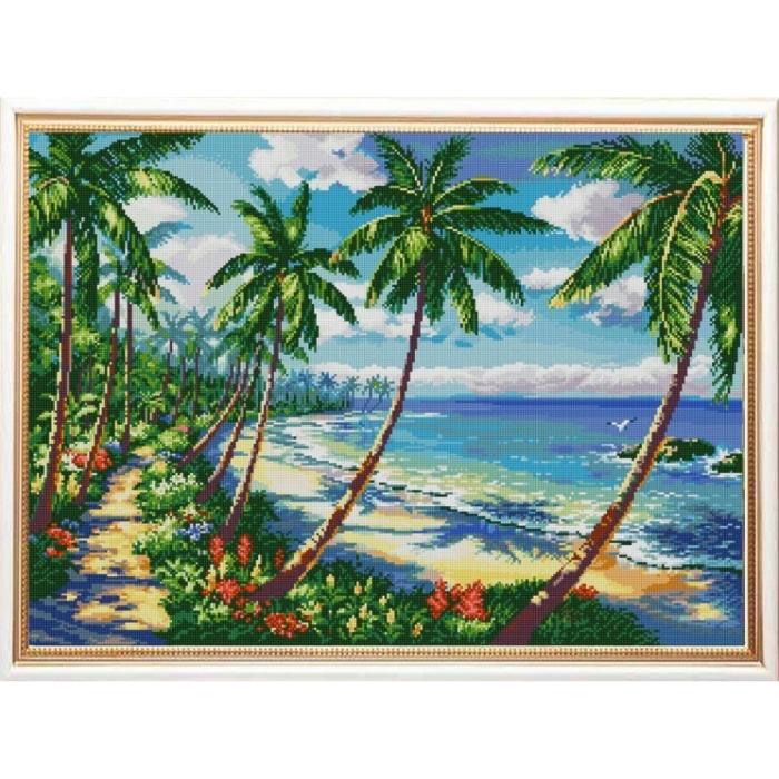 Рисунок на ткани (Бисер) КОНЁК арт. 1281 Экзотика 45х60 см