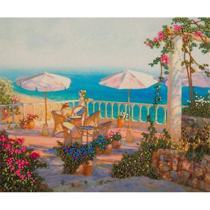"""Набор для вышивания PANNA """"Живая картина"""" арт. JK-2102 Утро у моря 24х20 см"""