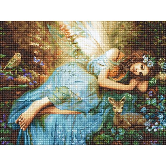 Набор для вышивания LETI арт. 960 Весенняя фея 40х30 см