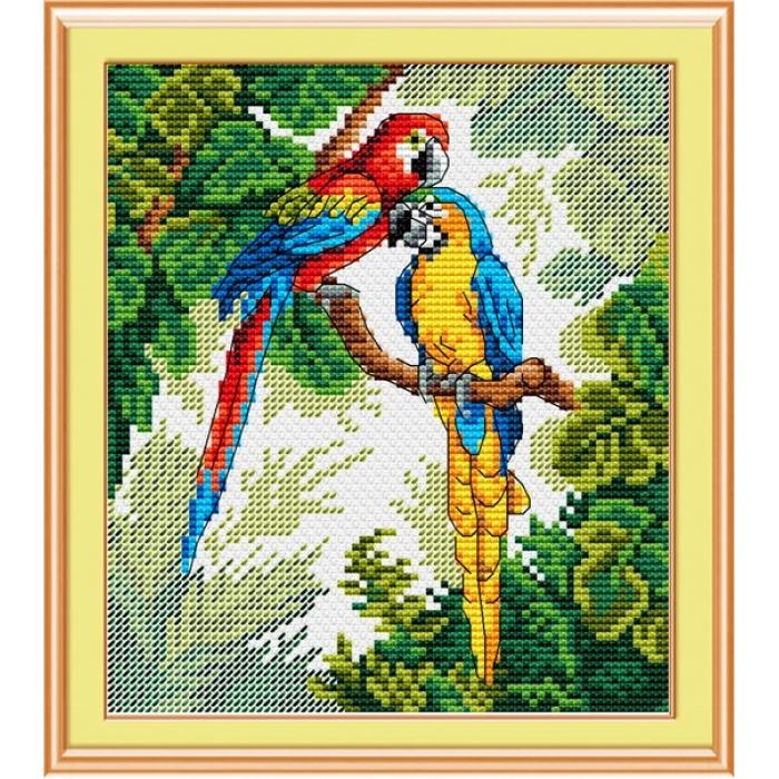 Набор для вышивания ЖАР-ПТИЦА арт.М-033 Ярких красок хоровод 16х14 см
