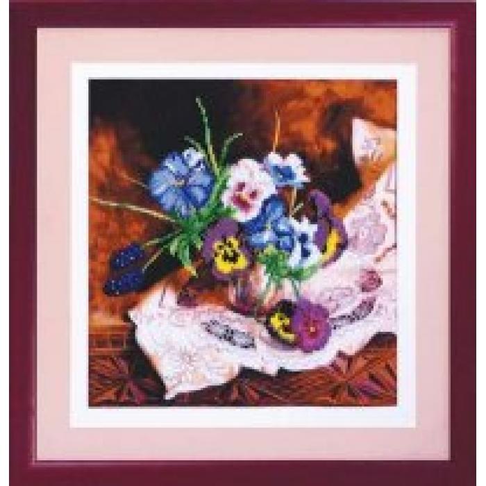 Набор для вышивания бисером ЧАРИВНА МИТЬ арт.Б-576 Мамин букет 27,5х29,5 см