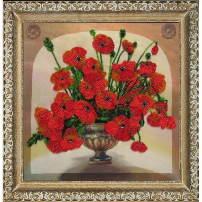 Набор для вышивания BUTTERFLY арт. 206 Маковый букет 27х27 см