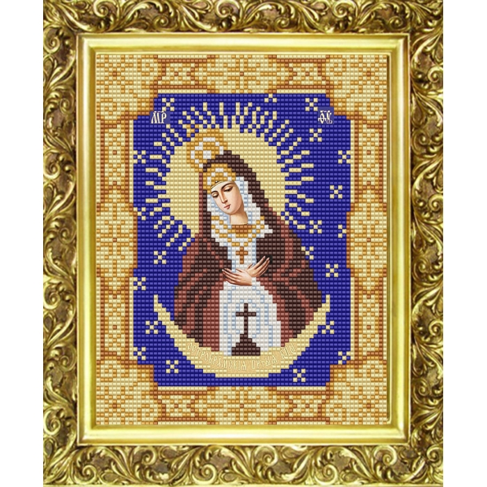 Рисунок на ткани (Бисер) КОНЁК арт. 9118 Богородица Остробрамская 15х18 см
