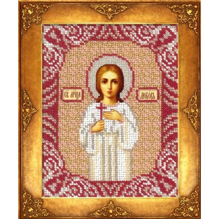 Набор для вышивания бисером РУССКАЯ ИСКУСНИЦА арт.210 БИ Св. Любовь 12,5х16,3 см