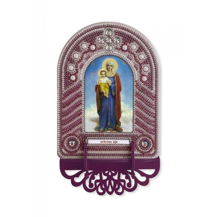 Набор для вышивания бисером НОВА СЛОБОДА арт.ВК1004 Пресвятая Богородица 10х13 см