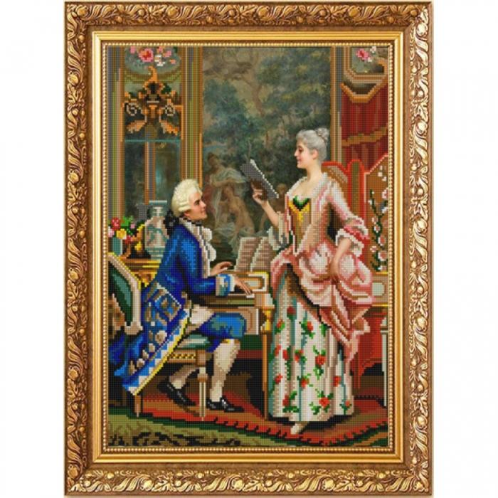 Рисунок на ткани (Бисер) КОНЁК арт. 1215 Урок пения 29х39 см