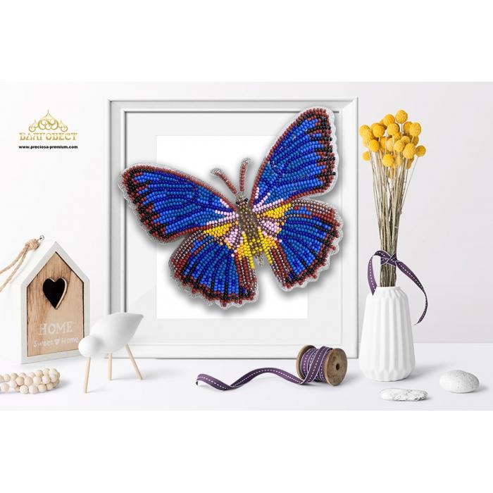 Пластиковая перфорированная основа БЛАГОВЕСТ арт.БС-039 3-D Бабочка. Cethosia Lamarcki 10х12 см