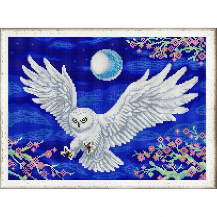 Рисунок на ткани (Бисер) КОНЁК арт. 9994 Летящая сова 29х39 см