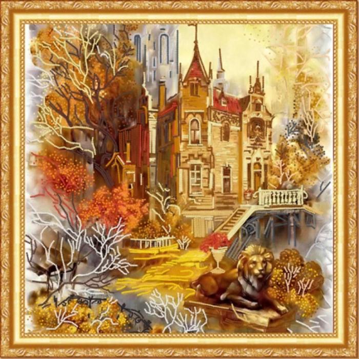 Рисунок на ткани (Бисер) КОНЁК арт. 8405 Старый замок 40х40 см