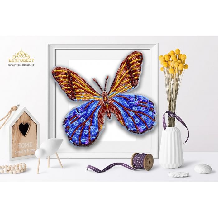 Пластиковая перфорированная основа БЛАГОВЕСТ арт.БС-124 3-D Бабочка. Pierella Lena 10х12 см