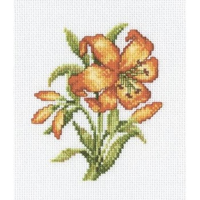 Набор для вышивания РТО арт.C184 Желтая лилия 13х17 см