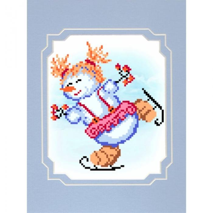 Набор для вышивания бисером с паспарту МАТРЕНИН ПОСАД арт.18х24 - 81/БП Фигуристка