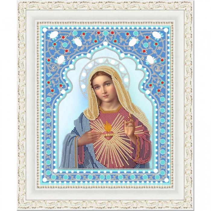 Рисунок на ткани (Бисер) КОНЁК арт. 7103 Непорочное сердце Марии 20х25 см