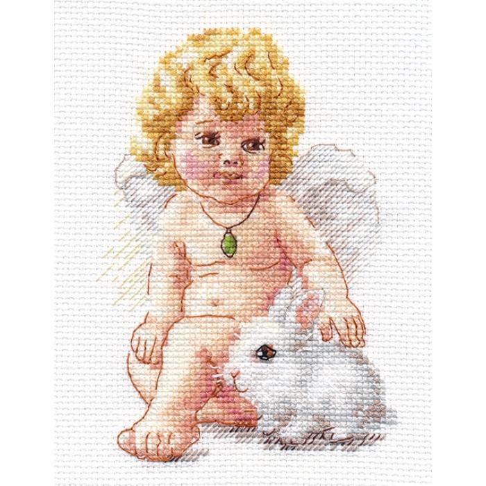 Набор для вышивания АЛИСА арт.0-146 Ангел Хранитель 10х14 см