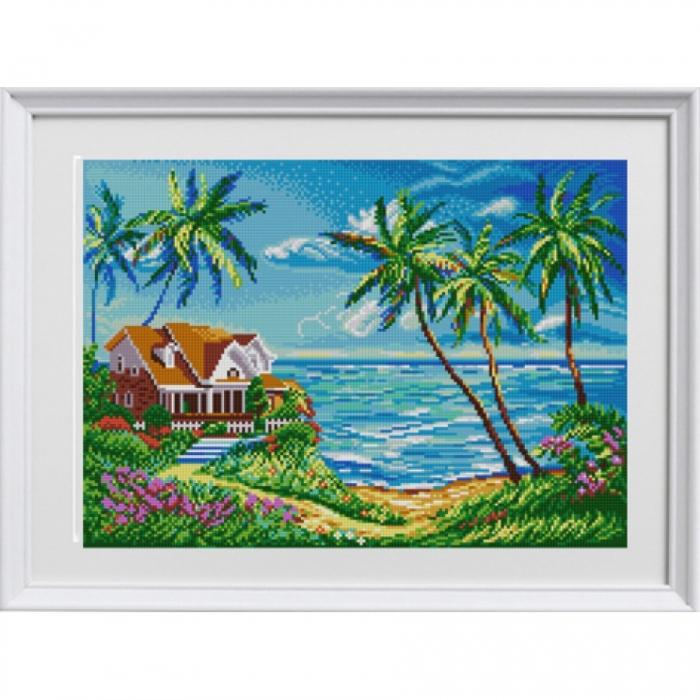 Рисунок на ткани КОНЁК арт. 1351 Домик у океана 29х39 см