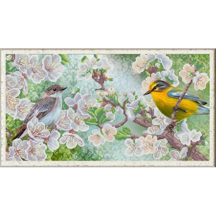 Рисунок на ткани (Бисер) КОНЁК арт. 1272 Весенний щербет 25х45 см