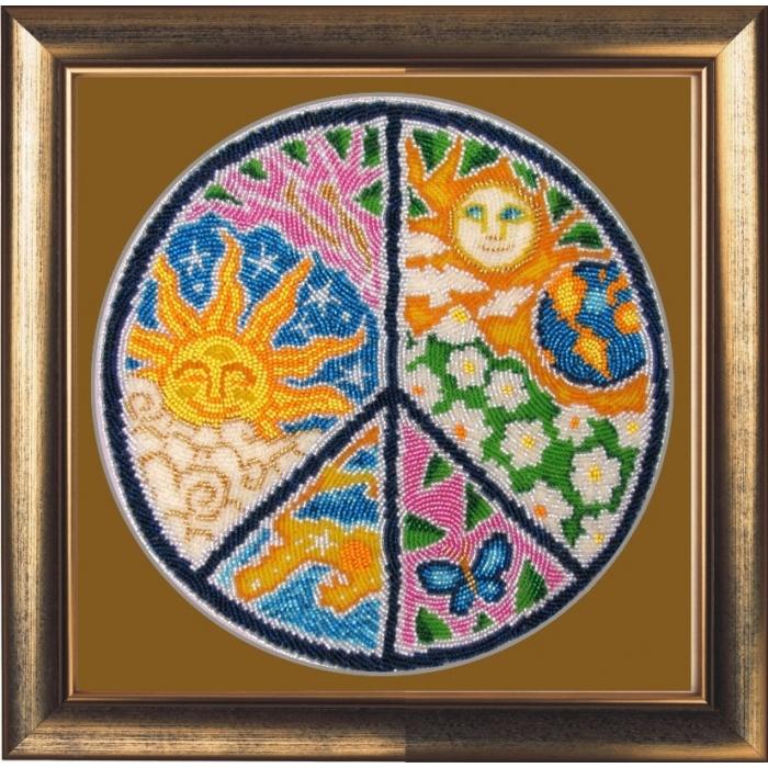 Набор для вышивания BUTTERFLY арт. 119 Мандала мира 25х25 см
