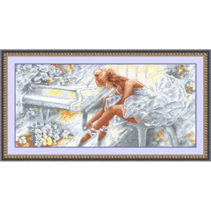 Набор для вышивания СДЕЛАЙ СВОИМИ РУКАМИ арт.Б-12 Балерина 57х27 см