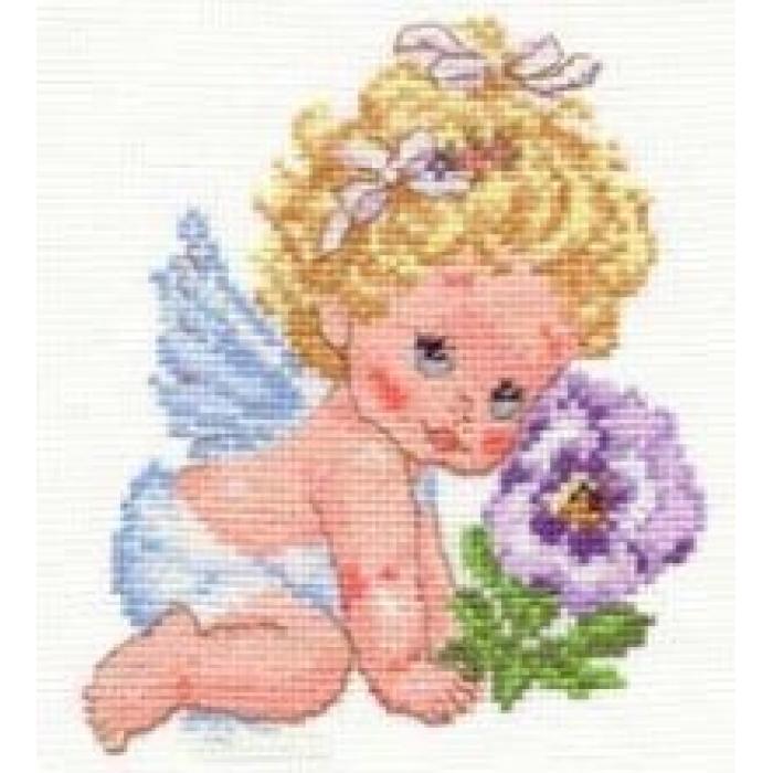 Набор для вышивания АЛИСА арт.0-14 Ангелок счастья 12х14 см