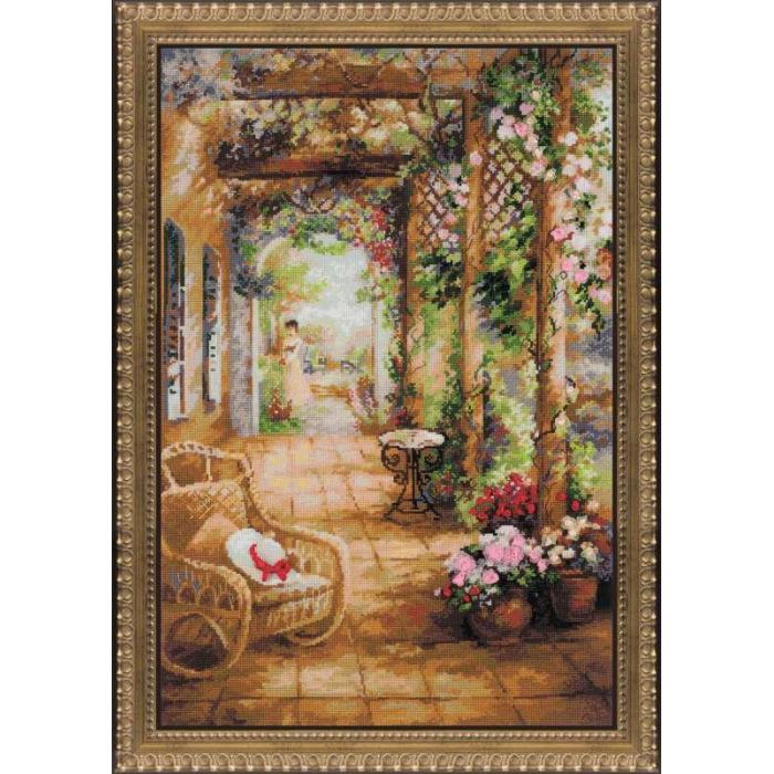 Набор для вышивания РИОЛИС арт.100/043 Свидание в саду 40х60 см