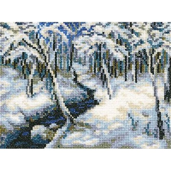 Набор для вышивания РТО арт.C212 Ручей в лесу 18х14 см