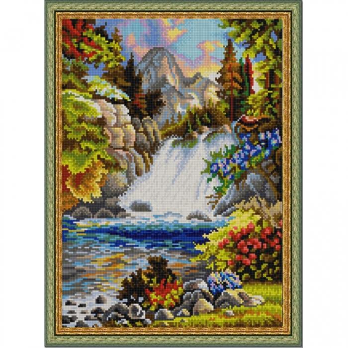 Рисунок на ткани (Бисер) КОНЁК арт. 9905 У водопада 29х39 см