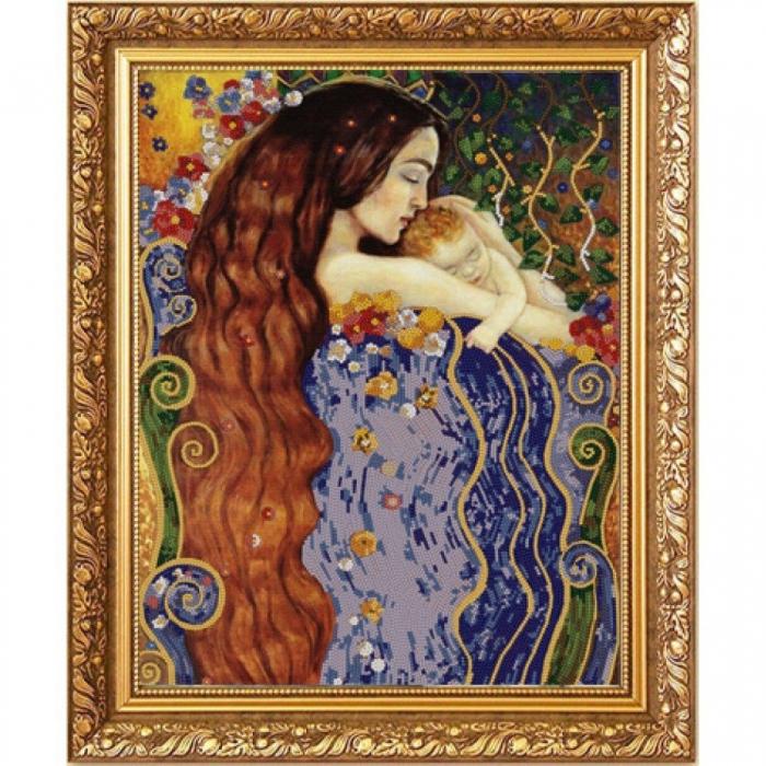 Рисунок на ткани (Бисер) КОНЁК арт. 8477 Любовь матери 29х39 см