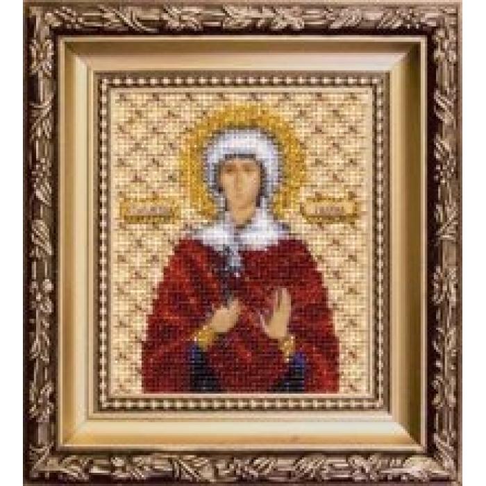 Набор для вышивания бисером ЧАРИВНА МИТЬ арт.Б-1121 Икона святой мученицы Галины 9х11 см