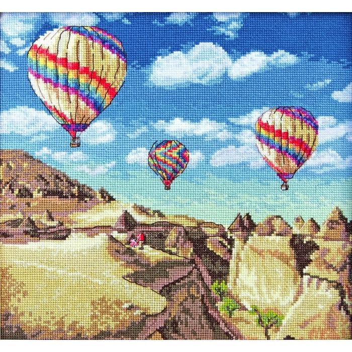 Набор для вышивания LETI арт. 961 Воздушные шары над Гранд-Каньоном 23,5х25 см