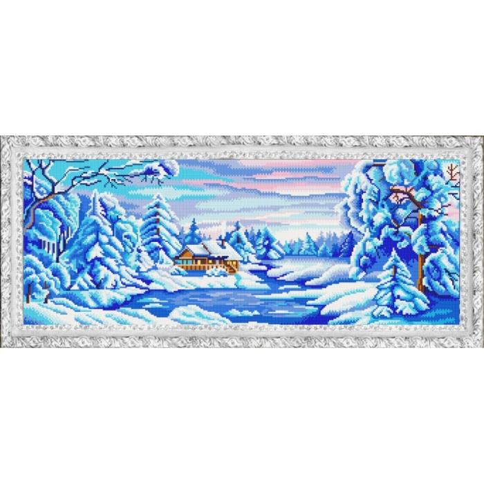 Рисунок на ткани (Бисер) КОНЁК арт. 9981 Зима искристая 25х65 см