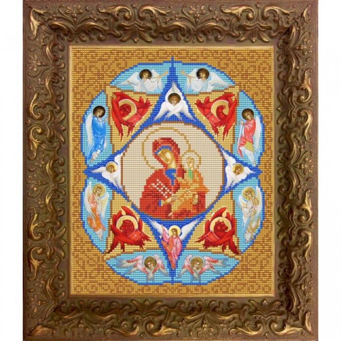 Рисунок на ткани (Бисер) КОНЁК арт. 9217 Богородица Неопалимая купина 20х25 см