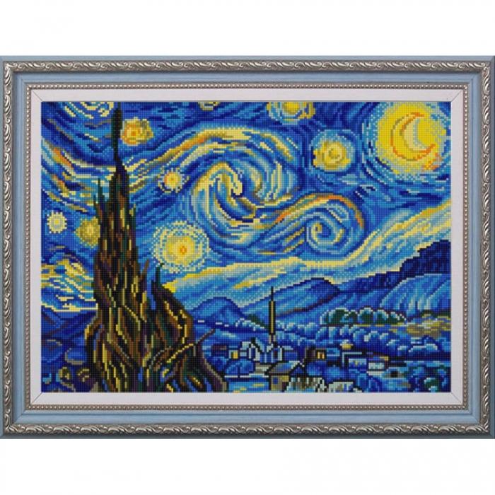Рисунок на ткани (Бисер) КОНЁК арт. 9887 Звездная ночь 29х39 см