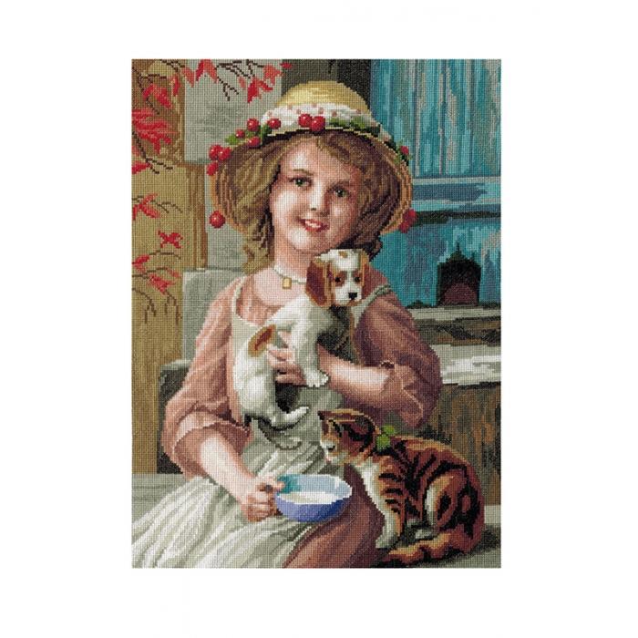 Набор для вышивания мулине НИТЕКС арт.0031 Лиза 36х45 см
