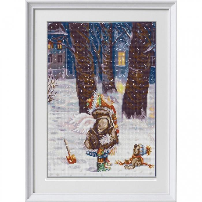 Рисунок на ткани (Бисер) КОНЁК арт. 1262 Зимнее счастье 29х39 см
