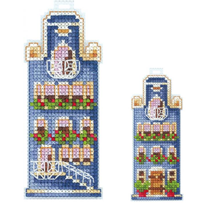 Набор для вышивания СДЕЛАЙ СВОИМИ РУКАМИ арт.Д-18 Домики.Синий домик 5х12см