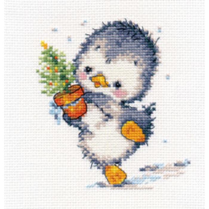 Набор для вышивания АЛИСА арт.0-133 Спешу на праздник 11х12 см