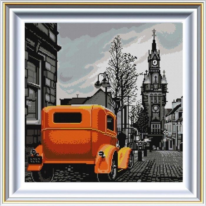 Рисунок на ткани (Бисер) КОНЁК арт. 1341 Ретро 1 40х40 см