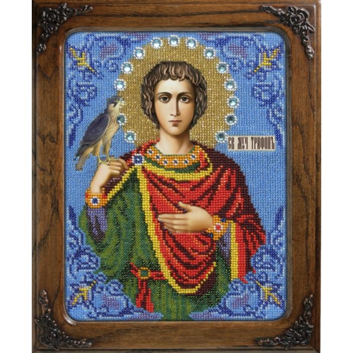 Набор для вышивания бисером ВЫШИВАЕМ БИСЕРОМ арт.L113 Святой мученик Трифон 19х25 см